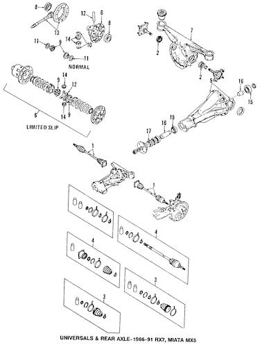PINION BEARING SPACER for 1992 Mazda Miata|TA01-27-431