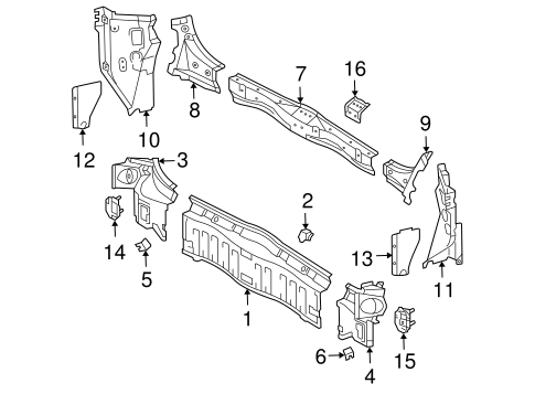 Genuine OEM REAR BODY Parts for 2006 Toyota Sienna LE