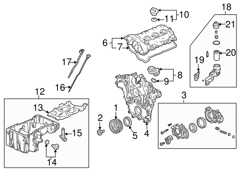 ENGINE PARTS for 2005 Cadillac SRX (Base)