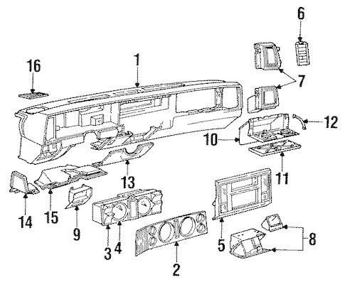 INSTRUMENT PANEL for 1984 Chevrolet S10 Blazer