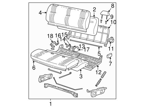 FRONT SEAT COMPONENTS for 1997 Chevrolet C1500 (Silverado)