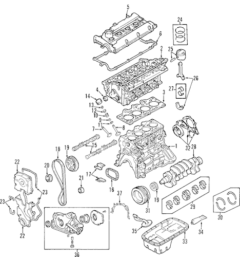 ENGINE OEM Parts for 2009 Kia Sportage