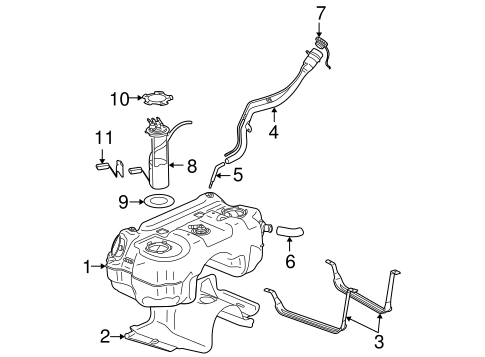 FUEL SYSTEM COMPONENTS for 2004 Saturn Vue (Base)