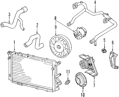 Audi 2 7t Engine Diagram 2002 Audi A6 Serpentine Belt