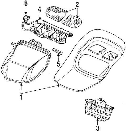 OVERHEAD CONSOLE for 1998 Dodge Ram 1500