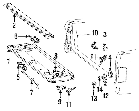 TAIL GATE for 1992 Ford F-250