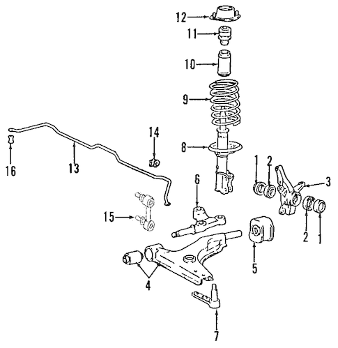SUSPENSION COMPONENTS for 2000 Hyundai Accent