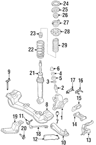 SUSPENSION COMPONENTS for 1995 Nissan 300ZX