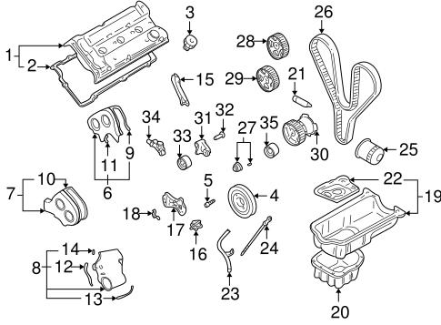 ENGINE PARTS for 2001 Hyundai XG300