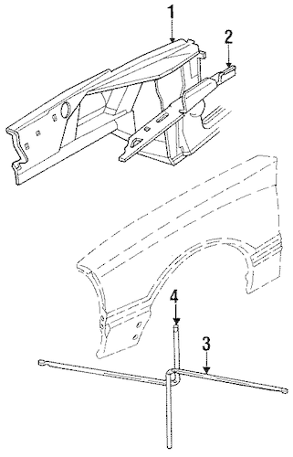 STRUCTURAL COMPONENTS & RAILS for 1993 Ford Mustang