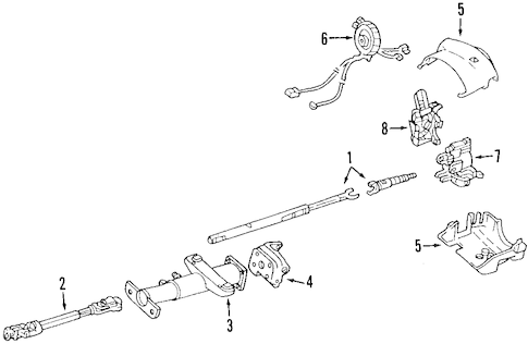 STEERING COLUMN for 2001 Pontiac Grand Prix (SE)