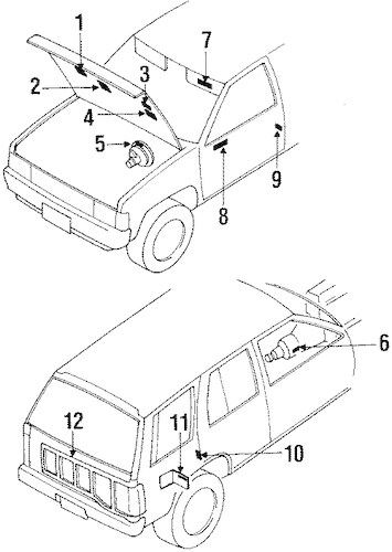 VACUUM DIAGRAM for 1990 Nissan Pathfinder|22304-12G01