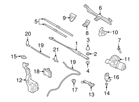WIPER & WASHER COMPONENTS for 2008 Saturn Astra (XR)