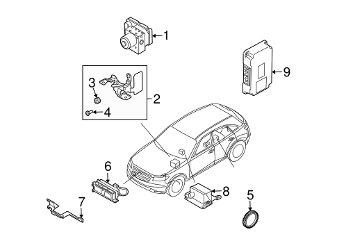 TRACTION CONTROL COMPONENTS for 2005 Infiniti FX35