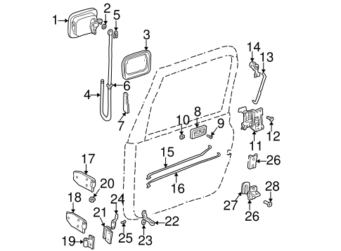 BODY/LOCK & HARDWARE for 1999 Jeep Wrangler #1