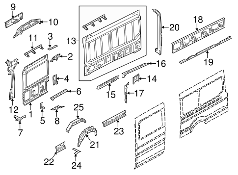 INNER STRUCTURE for 2015 Ford Transit-350