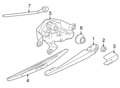09-15 Nissan Cube Murano Versa Quest Rear Windshield