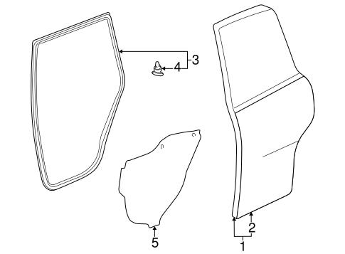 Genuine OEM DOOR & COMPONENTS Parts for 1999 Toyota RAV4