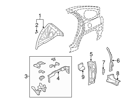 INNER STRUCTURE for 2003 Buick Rendezvous (CXL)