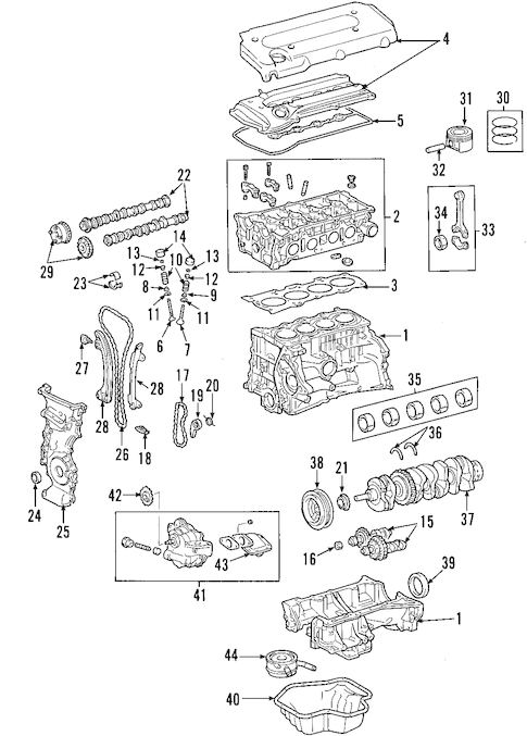 MOUNTS for 2002 Toyota Highlander