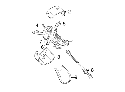 STEERING COLUMN ASSEMBLY for 2000 Jeep Grand Cherokee