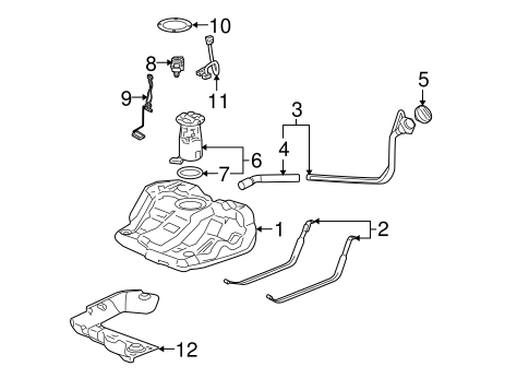 FUEL SYSTEM COMPONENTS for 2006 Buick LaCrosse (CXL)