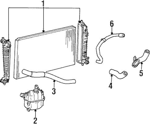 RADIATOR for 2001 Ford Windstar|6F2Z-8005-B