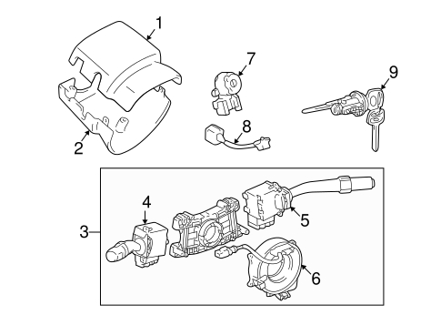 Genuine OEM IGNITION LOCK Parts for 1998 Toyota Tacoma