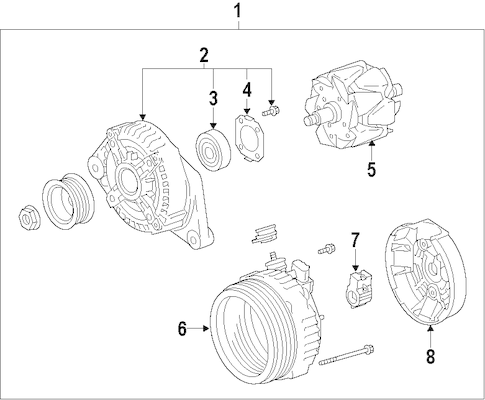 Genuine OEM ALTERNATOR Parts for 2011 Toyota Sequoia