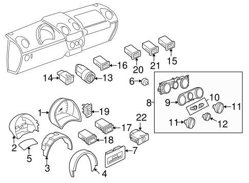 1998-2005 VW Volkswagen Beetle Hazard Flasher Light Switch
