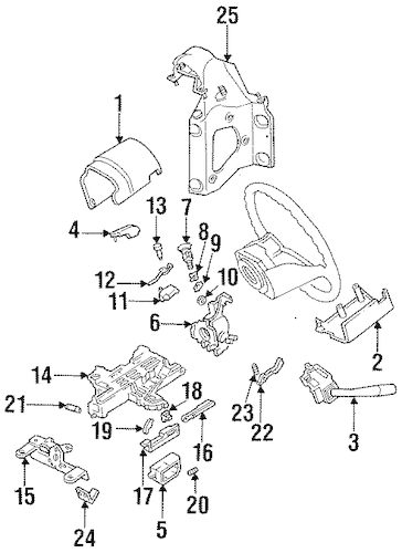 STEERING COLUMN COMPONENTS for 1993 Ford F-150