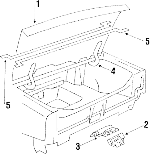 LID & COMPONENTS for 1989 Buick Electra (Park Avenue)