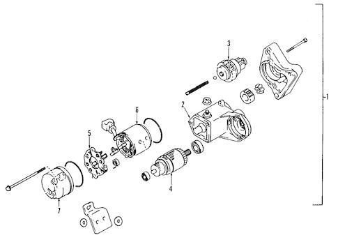 Genuine OEM STARTER Parts for 2007 Toyota Tundra SR5
