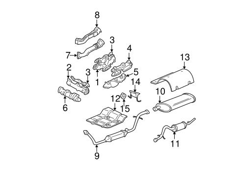 EXHAUST COMPONENTS Parts for 1999 Chevrolet Venture