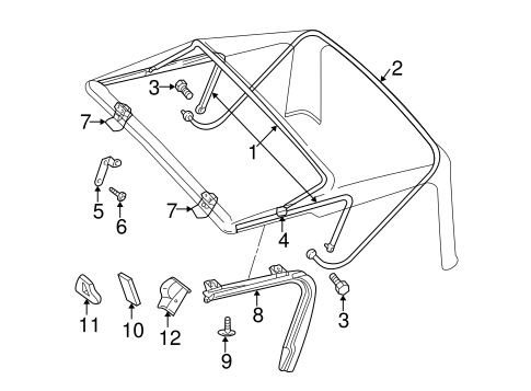 FRAME & COMPONENTS for 2003 Jeep Wrangler
