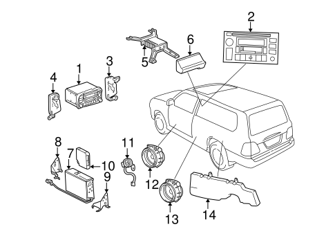Genuine OEM SOUND SYSTEM Parts for 2002 Toyota Land