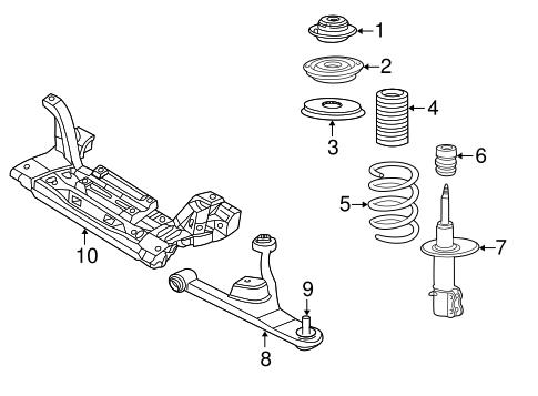 ENGINE CRADLE for 2002 Chrysler PT Cruiser|5272888AC