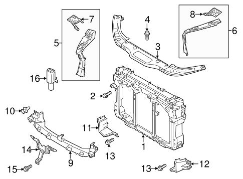 RADIATOR SUPPORT for 2013 Mazda CX-5