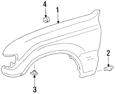 Genuine OEM FENDER & COMPONENTS Parts for 1997 Toyota Land