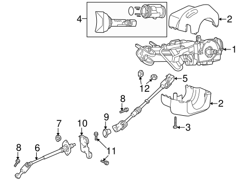 STEERING COLUMN ASSEMBLY for 2002 Jeep Wrangler