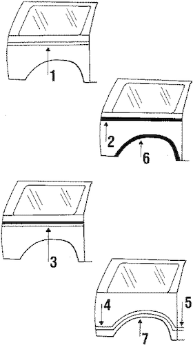 Ford MOLDINGS & NAMEPLATES Parts for 1986 Ford Bronco