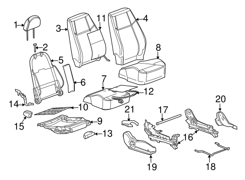 FRONT SEAT COMPONENTS for 2008 Chevrolet Cobalt (LS)