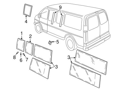 OEM MOVEABLE GLASS (15984985) for your GM Vehicle