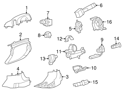 ANTI-THEFT COMPONENTS for 2008 Cadillac CTS