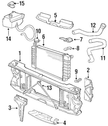 RADIATOR SUPPORT for 1993 GMC K1500 Pickup (Sierra)