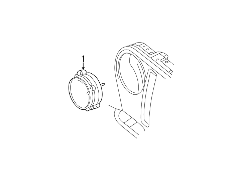 HEADLAMP COMPONENTS for 1998 Jeep Wrangler