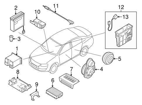 OEM VW SOUND SYSTEM for 2011 Volkswagen CC