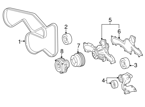 Genuine OEM WATER PUMP Parts for 2007 Toyota Tacoma Base