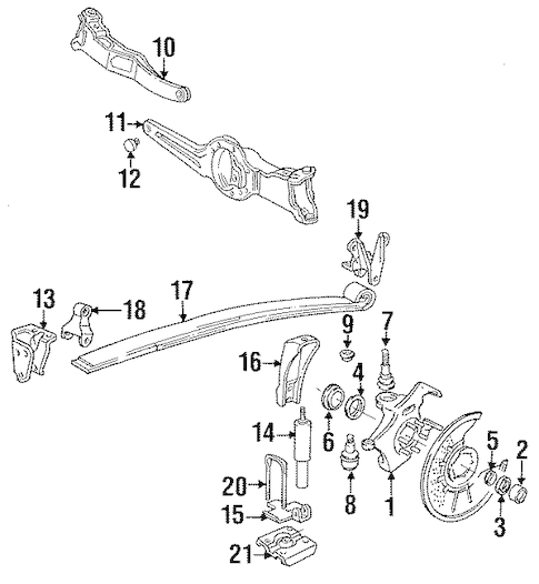 SUSPENSION COMPONENTS for 1988 Ford F-250