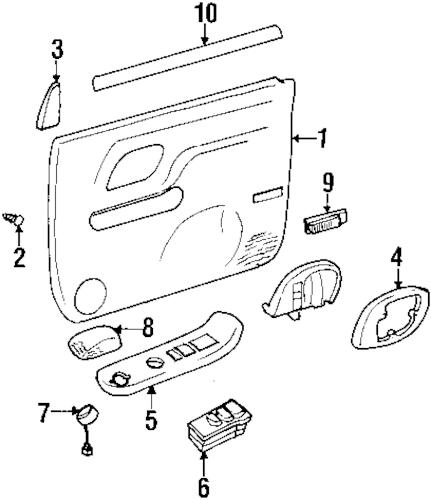 1999 Pontiac Bonneville Interior Trim Parts